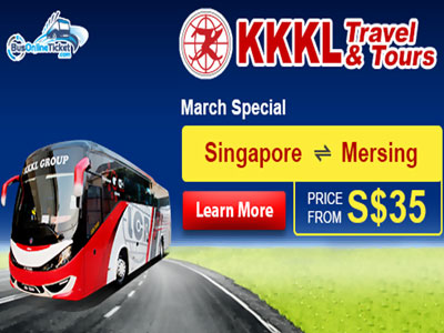 KKKL Express Bus from Singapore to Mersing - SGD35