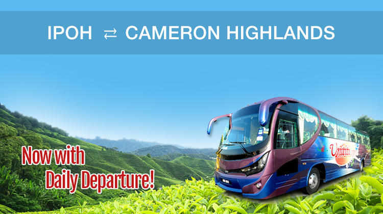 Ipoh to Cameron Highlands Bus Tickets Available Online