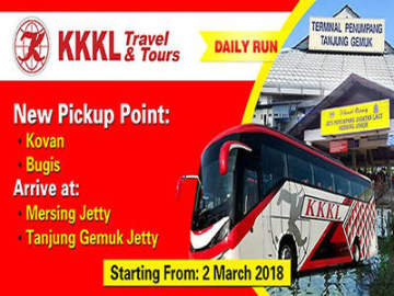 KKKL Express from Singapore to Mersing and Tanjong Gemok Jetty