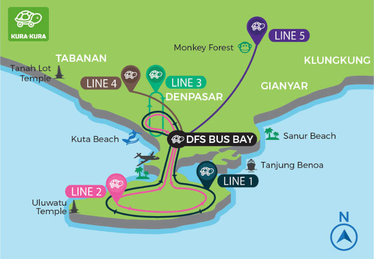 Kura-Kura Bus Route Map