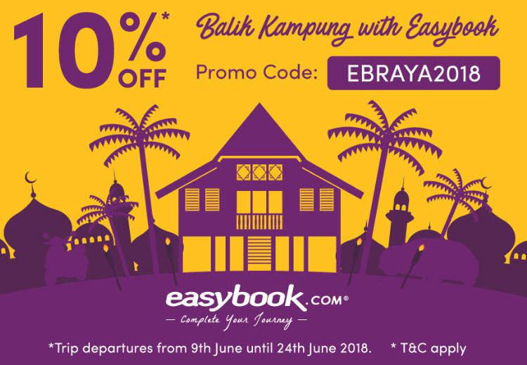 Easybook 10% Off Balik Kampung Trips