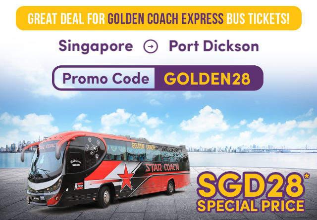 Promo Code [GOLDEN28] - Singapore to Port Dickson bus ticket via Easybook.com