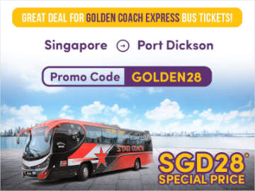 SGD28 Bus Ticket from Singapore to Port Dickson by Golden Coach