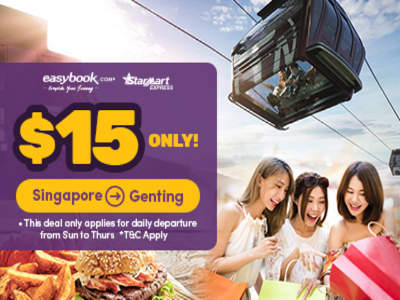 SGD15 Bus Ticket from Singapore to Genting