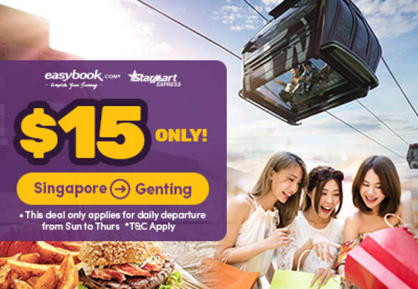 SGD15 Bus Ticket from Singapore to Genting Highlands
