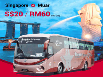 Starmart Express Bus from Singapore to Muar
