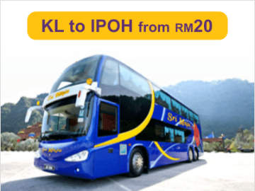 Express Bus from Kuala Lumpur to Ipoh