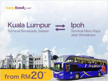Sri Maju express bus from Kuala Lumpur to Ipoh