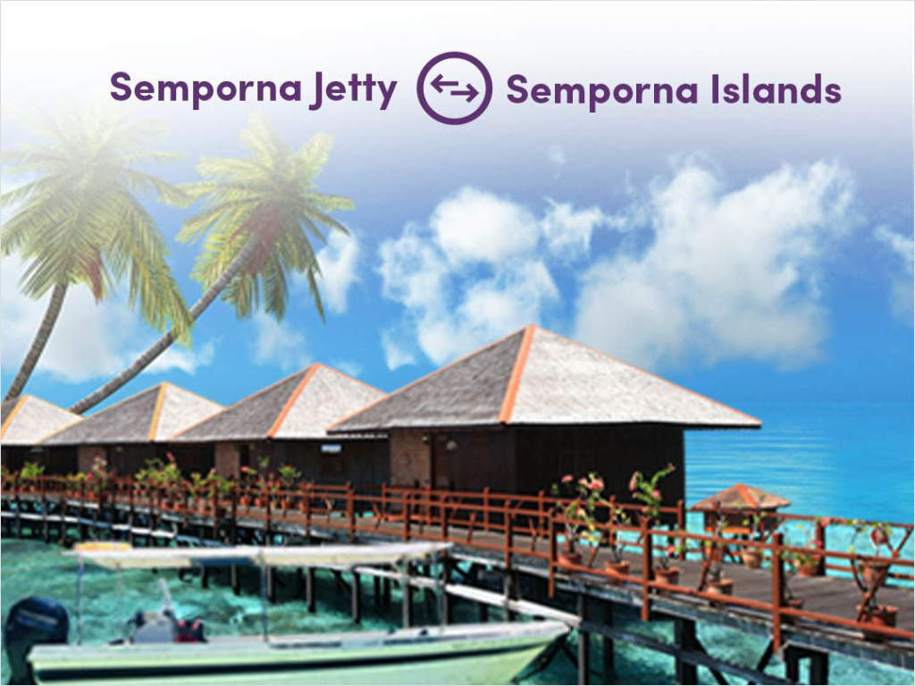Ferry from Semporna Jetty to Bohey Dulang, Mabul, Mataking and other islands