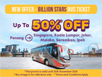 Easybook Promo: Billion Stars Bus Tickets at 50% Discount