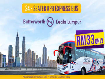 KPB Express 24-Seater Bus from Butterworth to Kuala Lumpur