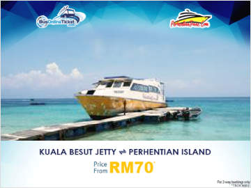 Ferry from Kuala Besut Jetty to Perhentian Island