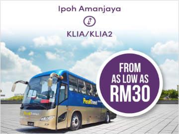 Perak Transit from Ipoh Amanjaya to KLIA/KLIA2