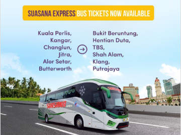 Suasana Express Bus Tickets Now Available Online at Easybook