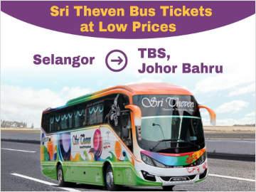Express Bus from Selangor to TBS & JB Larkin by Sri Theven