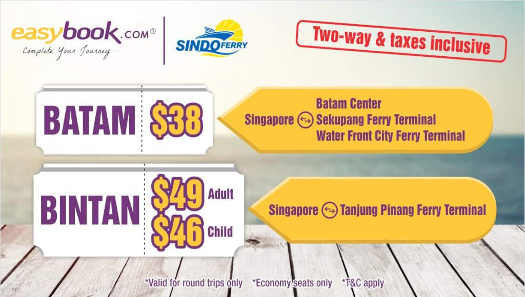 Singapore to Batam and Bintan by Sindo Ferry