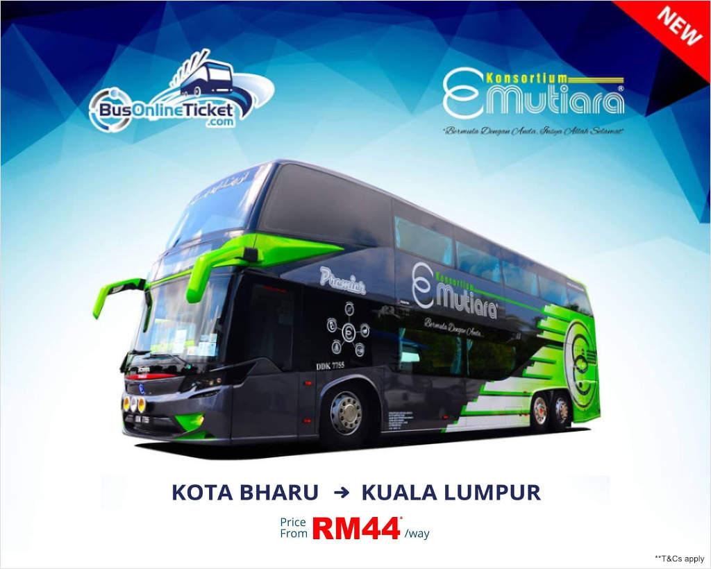 E-Mutiara from Kota Bahru to Kuala Lumpur