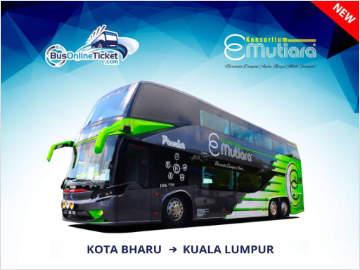 E-Mutiara Bus from Kota Bahru to Kuala Lumpur