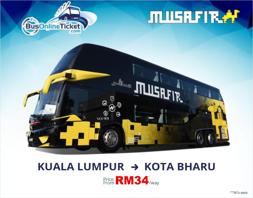 Express Bus from Kuala Lumpur to Kota Bahru - Ekspres Musafir
