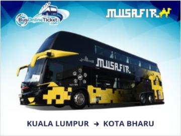 Express Bus from Kuala Lumpur to Kota Bahru