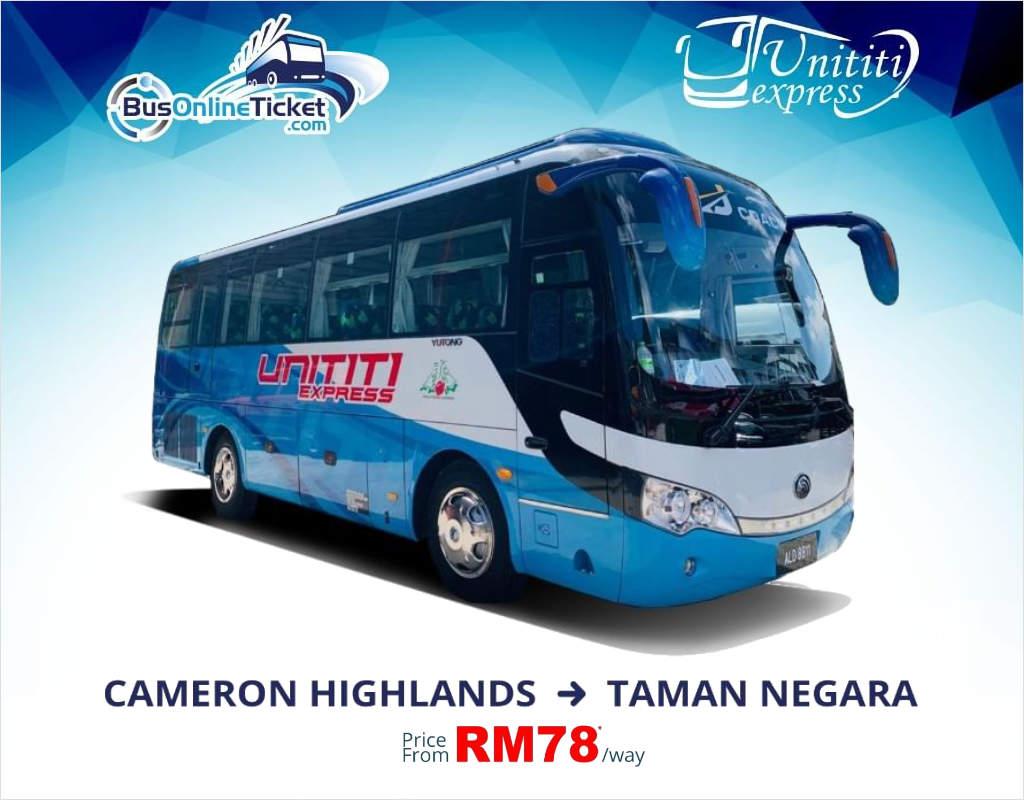 Unititi Express Bus from Cameron Highlands to Taman Negara