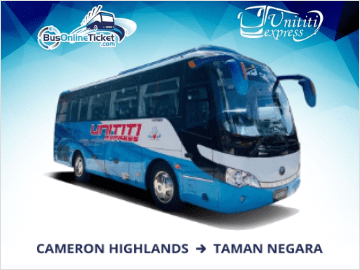 Express Bus from Cameron Highlands to Taman Negara