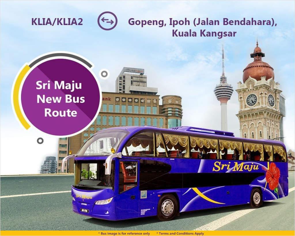 Sri Maju bus from KLIA/KLIA2 to Gopeng, Ipoh and Kuala Kangsar