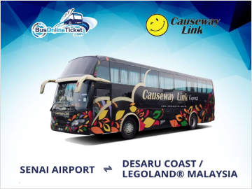 Senai Airport to Desaru Coast & Legoland Bus