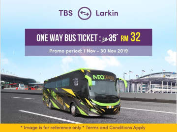 TBS to JB Larkin Bus Promo by Neoliner Express