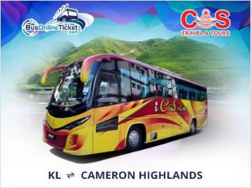 Kuala Lumpur to Cameron Highlands Bus Ticket Promo