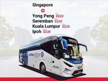 Singapore to Ipoh Bus by Eltabina Express