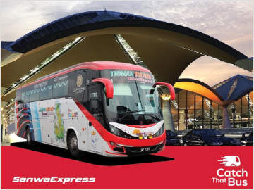 Bus from KLIA to Mersing by Sanwa Express