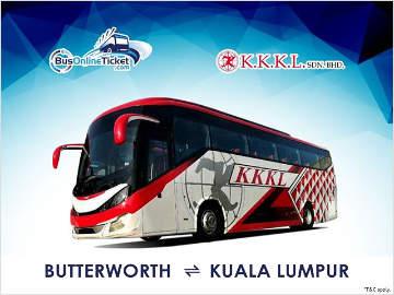KKKL Bus from Butterworth to Kuala Lumpur