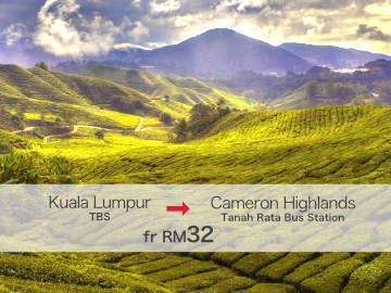 Bus from Kuala Lumpur to Cameron Highlands