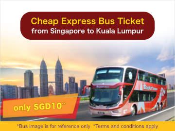 Cheap Express Bus from Singapore to Kuala Lumpur