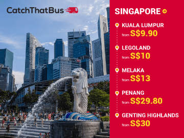Bus from Singapore to Malaysia's Top Destinations via CatchThatBus.com
