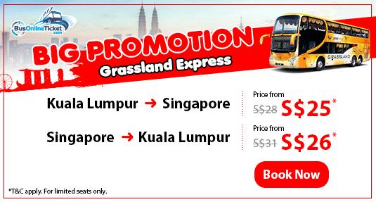Grassland Express Big Promotion: KL-SG fr $25, SG-KL fr $26