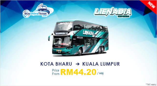 Lienadia Express Bus from Kota Bharu to Kuala Lumpur