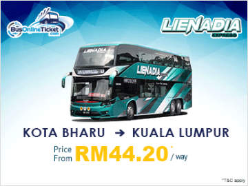 Bus from Kota Bharu to Kuala Lumpur by Lienadia Express