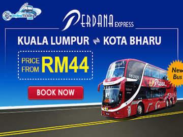 Perdana Express: Kuala Lumpur ⇌ Kota Bharu fr MYR44