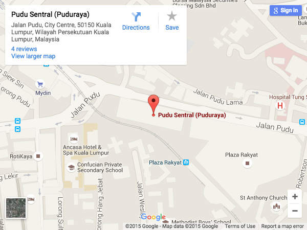 Pudu Sentral Location Map