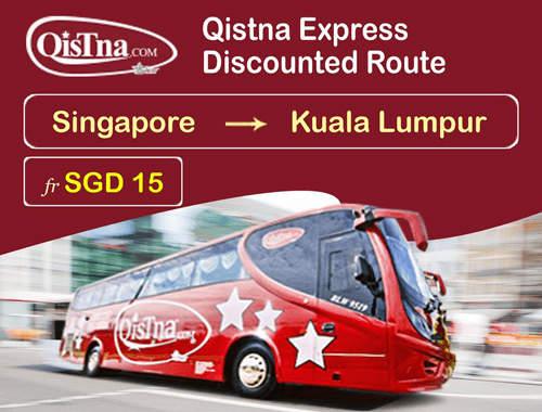 Qistna Express Promo: Singapore to Kuala Lumpur fr SGD15