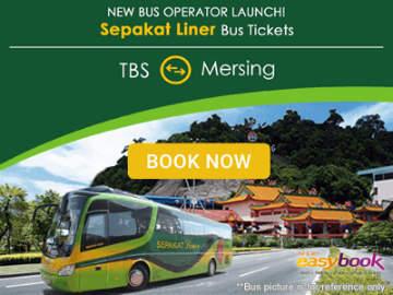 Sepakat Liner: TBS Kuala Lumpur ⇌ Mersing (Tioman Island)