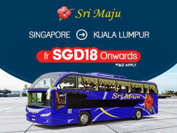 Sri Maju Bus Ticket from Singapore to Kuala Lumpur fr $18