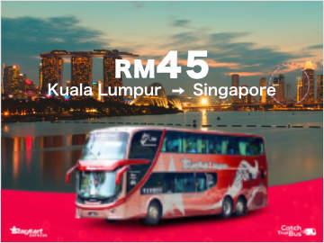 Starmart Express Bus from Kuala Lumpur to Singapore fr RM45