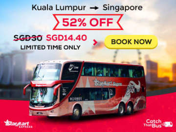 Starmart Express is offering cheap bus tickets from KL to Singapore at RM45 via CatchThatBus.com