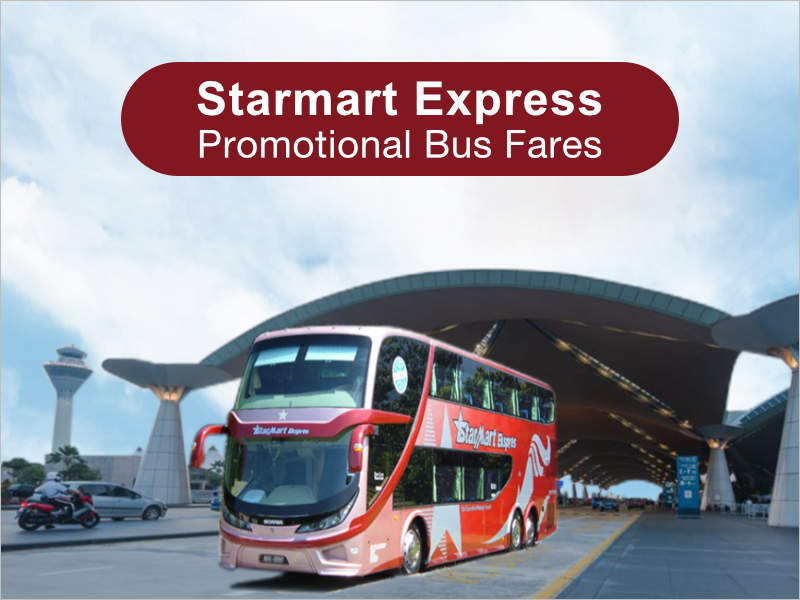 Starmart Express offers promotional bus fares from Singapore to KL, Genting, Malacca & Johor